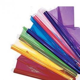 Papel Celofane 50x65cm 25 Rolos Cores Sortido (4 vermelho, 4 azul, 4 verde, 2 Rosa, 4 Amarelo, 2 Laranja, 5 Transparente)