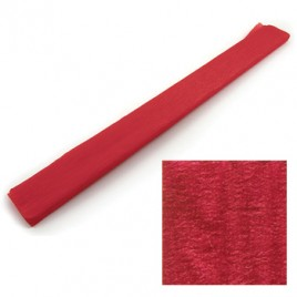 Papel Crepe 50x150cm Rolo Cor Vermelho Metalizado