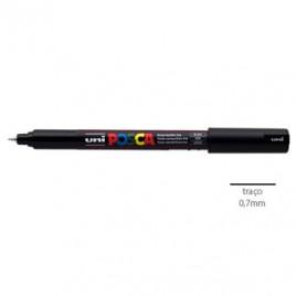 Marcador Uniball Posca PC1MR 0,7mm Preto-1un O Posca de ponta calibrada extra-fina para os profissionais criativos fazerem desenhos técnicos e esboços.Os amantes de trabalhos manuais executarem trabalhos de scrapbooking.
