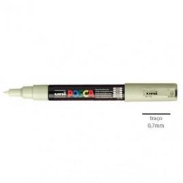 Marcador Uniball Posca PC1M 0,7mm Bege -1un O POSCA ponta fina é adequado para as crianças contornarem objectos, fazerem ou colorirem desenhos / para os profissionais colorirem documentos, fazerem desenhos irregulares ou fazerem marcações precisas /