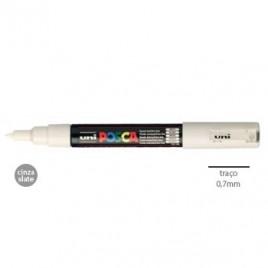 Marcador Uniball Posca PC1M 0,7mm Cinza Slate -1un O POSCA ponta fina é adequado para as crianças contornarem objectos, fazerem ou colorirem desenhos / para os profissionais colorirem documentos, fazerem desenhos irregulares ou fazerem marcações precisas