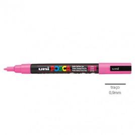 Marcador Uniball Posca PC3M 0,9mm Rosa -1un.O Posca de ponta fina é adequado  para trabalhos manuais, pintura de texteis e outros objectos