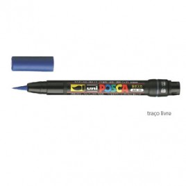 Marcador Uniball Posca PCF350 Livre Azul – 1un.O POSCA pincel é utilizado para aplicação de cores em esculturas, moldagens, e em superfícies  de acesso difícil, para banda desenhada e caligrafia.