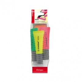 Marcador Fluorescente Stabilo Neon Sortido 72/4 Blister 4 un