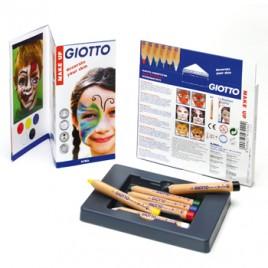 Lapis Cosmetico Giotto Make UP com 6 lapis cosmeticos de 6,5mm