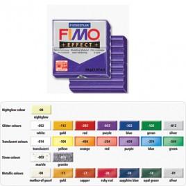 Pasta de modelar FIMO Effect Glitter Roxo 56grs, 55X55X15mm, Dividido em 8 parcelas, Lisa e Macia, Facil de Misturar, Pronta para Usar, Cor Vibrante