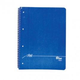 Caderno Espiral A4 Quadriculado Capa Kraft 75 Folhas 70gr 4 Furos Azul