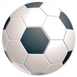 Tapete para Rato Circular Rigido c/ Imagem Bola de Futebol