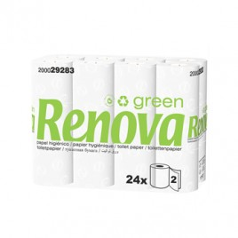 Papel Higienico RenovaGreen 2Fls 16,5mts (Pack24)