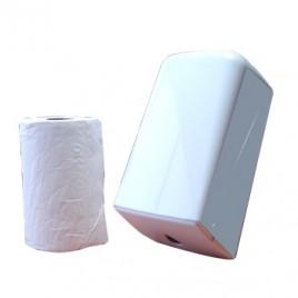 Start Kit Rolo Toalhas Maos Cleanspot Mini Espiral / Extraccao Central / Chamine (Pasta Virgem) 2Fls 20cm (60Mts) + Dispensador