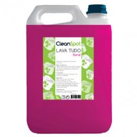 Detergente Lava Tudo Floral Cleanspot (5 Litros) É um detergente multi-uso perfumado concentrado bactericida todo o tipo para superfícies, sanitários, etc.