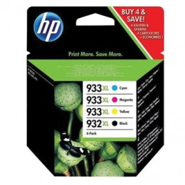 Combo Pack 4 Tinteiros HP OfficejetPro 6100/6600/H711/6700/7110/7612 Nº932XL/933LX