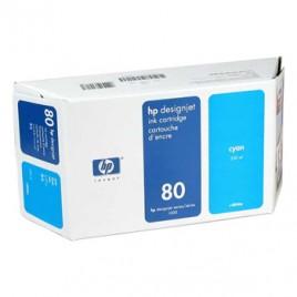Tinteiro HP DSJ1050C/1055CMl Nº80 350ml Azul