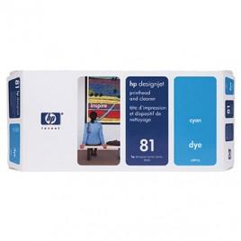 Cabeca de Impressao e Limpeza DesignJet 5000/5000PS/5500 Nº81 Azul