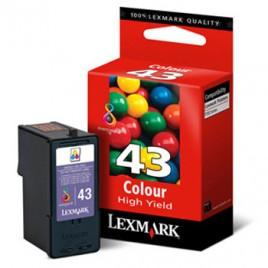 Tinteiro Lexmark Capacidade Superior P350/X9350/Z1520/X4850/X6570/X9570/X4875/X6575/X9575/X4950 Nº43 Cor