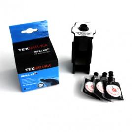 Refill Kit p/HP Nº336/Nº337/Nº338/Nº350 (C9362/C9364/C8765/CB335) Preto (1 Refilling Station+3 units Black Ink Bags)