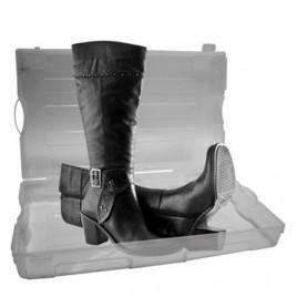 Caixa plastica transparente para sapatos