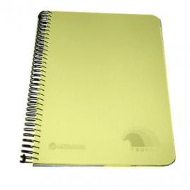 Caderno Espiral Polipropileno Tsunami A5 Quad 160Fls Amarelo