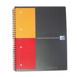 Caderno Espiral Oxford ActiveBook Capa PP A4 Quadric, 80fls