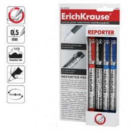 Esferografica EK Reporter 0,5  – Blister 2 Azul 1Preto 1Verm