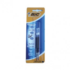Recarga Esfer, BIC GEL Preto (ReAction/VelocityStic/Pro+)2un