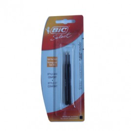 Recarga Esfer, BIC Select Preto (Steel/Widebody/Rondo) 2un