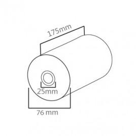 Rolo Papel Termico 76x175x25 – 1un