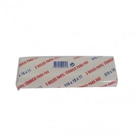 Rolo para Fax termico 15m 210X15X11 Pack 2un