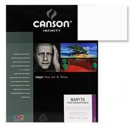 Papel Canson Infinity Baryta Photograph A3+ 310gr 25Fls