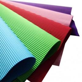 Folha Cartao Canelado Colorido 50x70cm Castanho