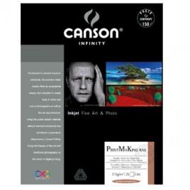 Papel Canson Infinity PrintMaking Rag A2 100% 310gr 25Fls