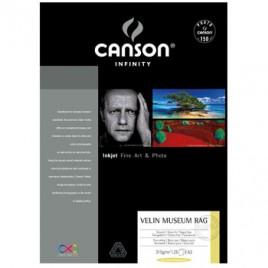 Papel Canson Infinity Velin Museum Rag A2 100% 315gr 25Fls