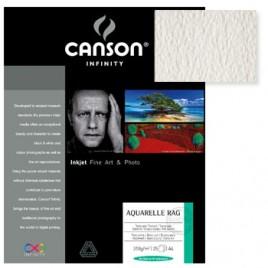Papel Canson Infinity Aquarelle Rag A4 100% 310gr 10Fls
