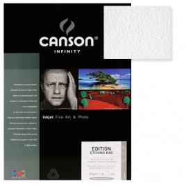 Papel Canson Infinity Ed, Etching Rag A2 100% 310gr 25Fls