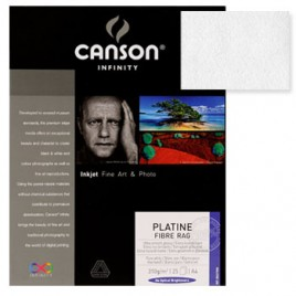Papel Canson Infinity Platine Fibre 0,432×55,9 100% 310g 25F