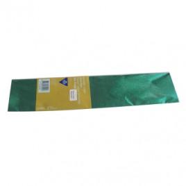 Papel Crepe 50x150cm Rolo Cor Verde Metalizado