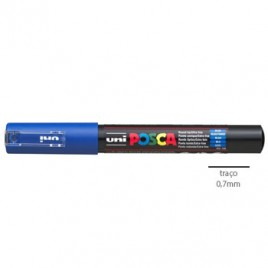 Marcador Uniball Posca PC1M 0,7mm Azul -1un