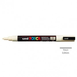 Marcador Uniball Posca PC3M 0,9mm Marfim -1un