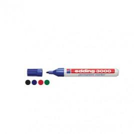 Marcador Grosso Edding 3000 Azul Cx 10un