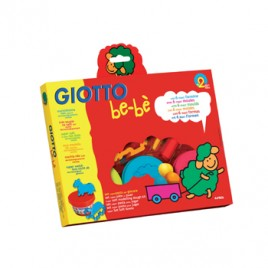 Pasta Modelar Giotto Be-Be 3x100gr + Moldes
