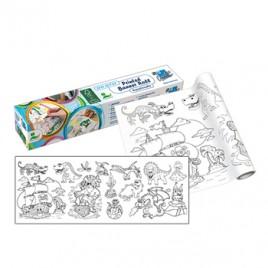 Rolo de Papel Adesivo para colorir 30cmx4mts Menino