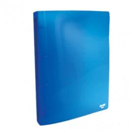 Dossier Plastico 4/40mm c/Bolsa Interior A4 Azul