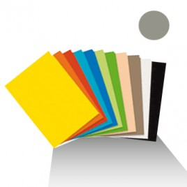 Cartolina 180gr 1 folha 50x65cm Cinzento Granito