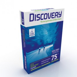 Papel Fotocopia A4 75gr Discovery 5x500Folhas