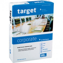 Papel Fotocopia A3 80gr Target (Corporate) 5×500 Folhas