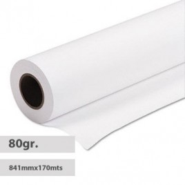 Papel Plotter 80gr 841mmx170mts (PPC) Evolution Extra -1Rolo