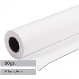 Papel Plotter 80gr 914mmx50mts Evolution Draft Pack 4 Rolos