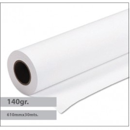 Papel Plotter Revestido Premium 140gr 610mmx30mts – 1 Rolo