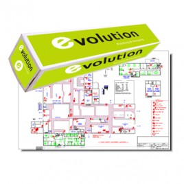 Papel Plotter 80gr 420mmx50mts Evolution Pack 2 Rolos