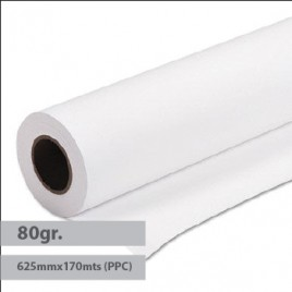 Papel Plotter 80gr 625mmx170mts (PPC) Evolution -1Rolo